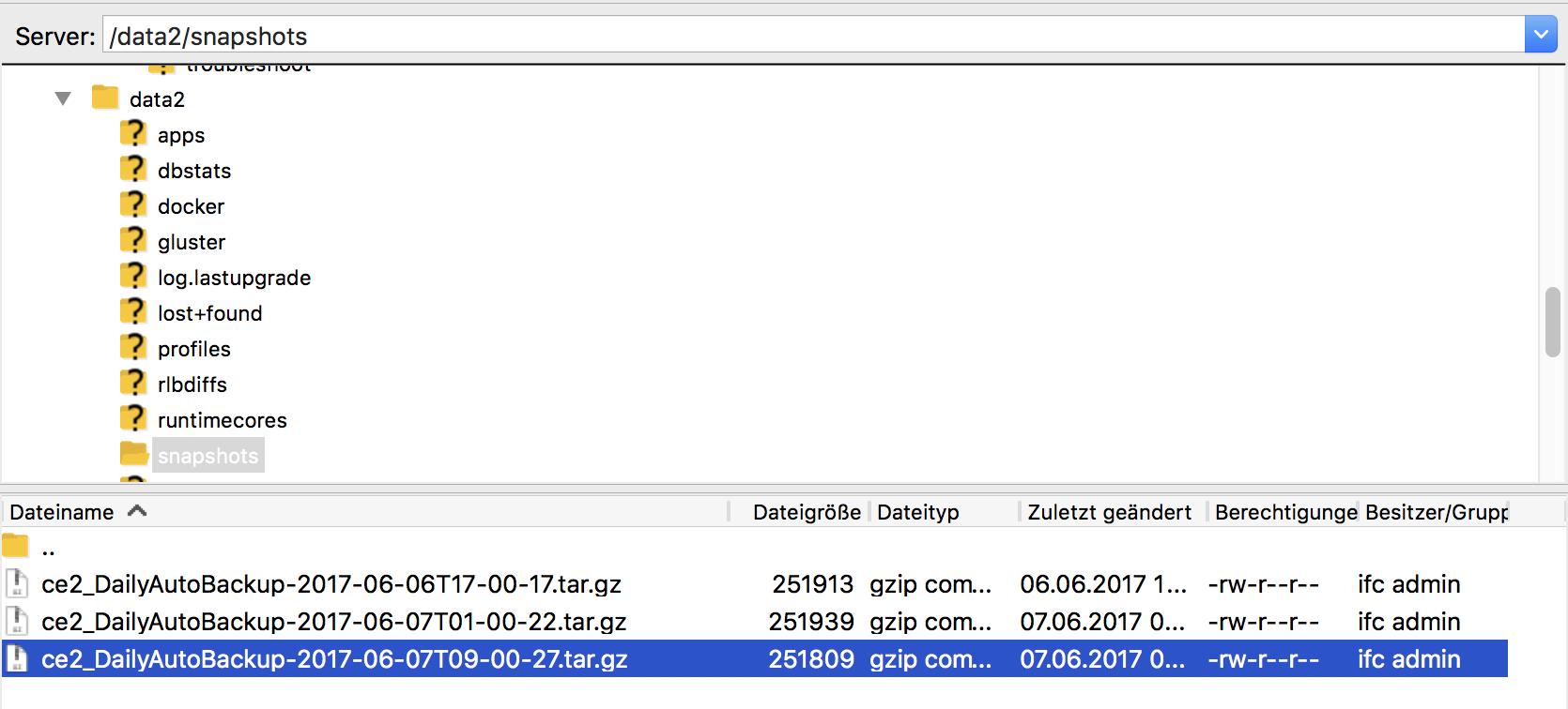 ACI – Access the Snapshots via CLI – NFVguy